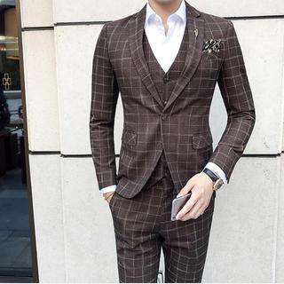 メンズスーツ 3点セット ビジネス 結婚式 入園式 即購入ok (セットアップ)