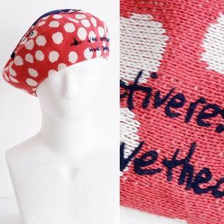 ヴィヴィアンウエストウッド(Vivienne Westwood)のヴィヴィアン ベレ帽 帽子 ピンク ドット ARCT サイズ 調可 SALE(ハンチング/ベレー帽)
