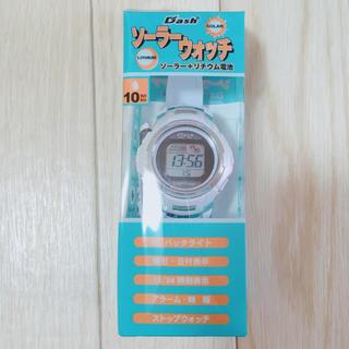 未使用に近い☆ソーラーウォッチ☆アウトドア☆キャンプ☆海水浴☆プール☆防水時計(腕時計(デジタル))