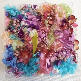 宝花箱、プリザーブドフラワー、紫陽花、花材