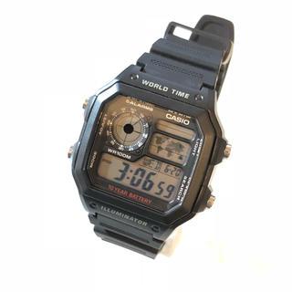 カシオ(CASIO)の【CASIO】AE-1200WH  WORLD TIME  WH-1100(腕時計(デジタル))