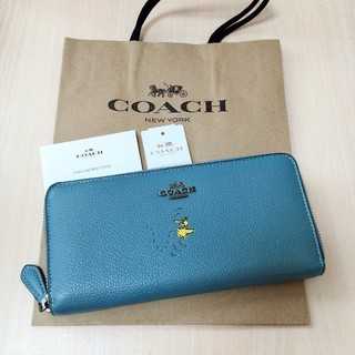コーチ(COACH)の新品未使用 COACH  長財布 日本未入荷 レア 人気 ウッドストック ブルー(財布)