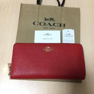 コーチ(COACH)の新品未使用 COACH 長財布 人気 レッド アコーディオン(財布)