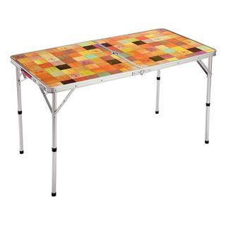 新品 コールマン ナチュラルモザイクリビングテーブル/120プラス (折たたみテーブル)