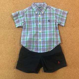 Ralph Lauren - ラルフローレン チェックシャツ 12M 【美品】