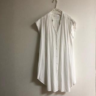 ニコル(NICOLE)のnicole white ニコル ホワイト ロングシャツ(Tシャツ/カットソー(半袖/袖なし))