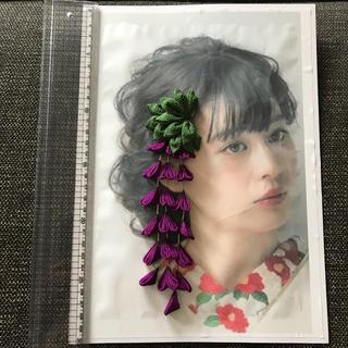髪飾り 藤の花(ヘアピン)