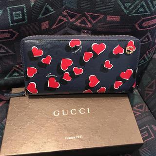 グッチ(Gucci)のGUCCI ハートビート 長財布 ラウンドファスナー(財布)