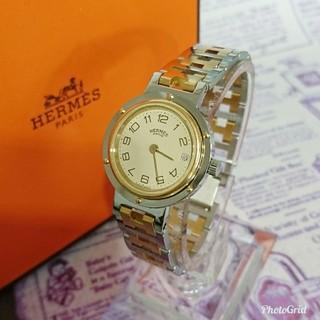 エルメス(Hermes)のピカピカ美品 HERMES エルメス クリッパー レディースモデル 腕時計(腕時計)