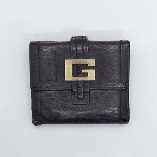 グッチ(Gucci)のグッチ GUCCI ビッグGマーク ブラックレザー 折財布(財布)