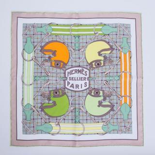 エルメス(Hermes)のエルメス スカーフ カレ45 シルク タッタソール ガヴロッシュ 100236(バンダナ/スカーフ)