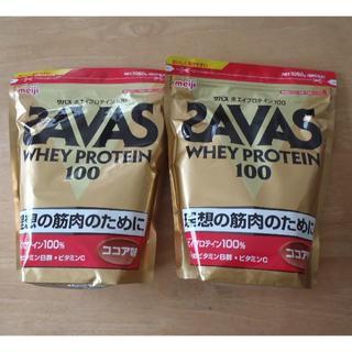 ザバス(SAVAS)のザバス ホエイプロテイン 100 ココア味 1050g 2袋(プロテイン)