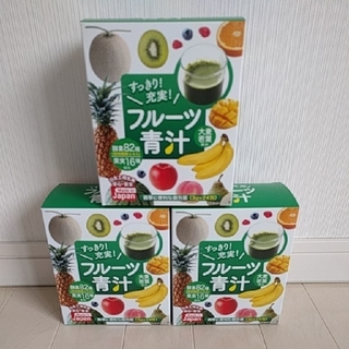 すっきり!充実!フルーツ青汁 たっぷり3箱(24包×3箱 72包)安心・安全(青汁/ケール加工食品 )