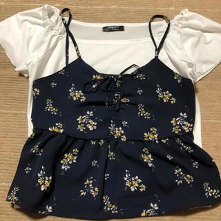 シマムラ(しまむら)のしまむら 花柄キャミTシャツ(Tシャツ(半袖/袖なし))