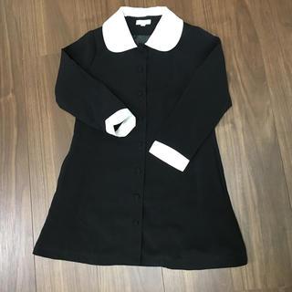 キャサリンコテージ(Catherine Cottage)のキャサイズ110 サリンコテージ ワンピース 黒 襟付き 入学式 受験 キッズ(ドレス/フォーマル)