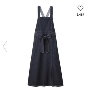 GU - 【新品未使用】デニムサロペットマキシスカート Sサイズ