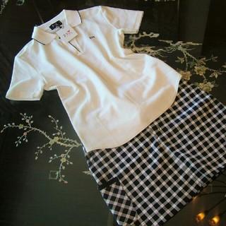 ニジュウサンク(23区)の23区SPORT 23区 ゴルフ シャツ レディース 白 ポロシャツ 半袖 新品(ウエア)