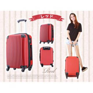 【大人気】機内持込OK!Sサイズ カワイイ キャリーケース レッド(スーツケース/キャリーバッグ)