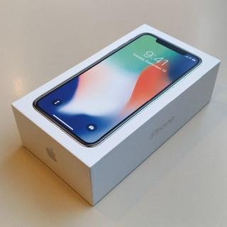 アップル(Apple)のSIMフリーiPhoneX 64GB 新品未使用 A189-854(スマートフォン本体)