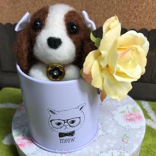 羊毛フェルト キャバリア 犬 ハンドメイド  手作り(ぬいぐるみ)