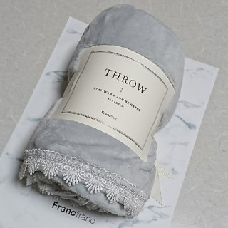 フランフラン(Francfranc)のフランフラン🖤ブランケット🖤ライトグレー【新品・未使用】(毛布)