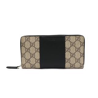 グッチ(Gucci)のGUCCI GGスプリーム ジップアラウンド ウォレット(長財布)