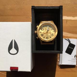 ニクソン(NIXON)のNIXON ALL GOLD 51-30 腕時計 正規品 金 クロノグラフ(腕時計(アナログ))
