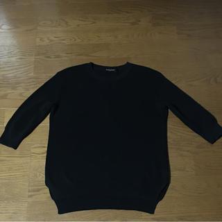 ユナイテッドアローズ(UNITED ARROWS)のユナイテッドアローズ  七分袖サマーニット   黒(カットソー(長袖/七分))