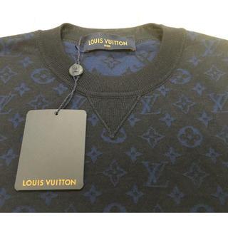 ルイヴィトン(LOUIS VUITTON)の18AW新作ルイヴィトン新品モノグラムニットLネイビー売り切り本物(ニット/セーター)