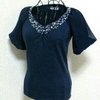 ビアッジョブルー(VIAGGIO BLU)のビアッジョ ブルー 9号 パフスリーブカットソー(カットソー(半袖/袖なし))