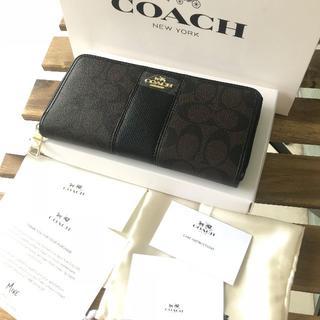 コーチ(COACH)の♡美品 COACH(コーチ) 長財布 ♡F52859 ブラック(長財布)