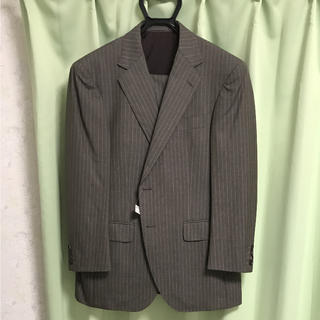 ジェイプレス(J.PRESS)の新品タグ付き 春夏用スーツ上下 ストライプ ブラウン(セットアップ)