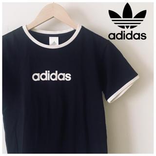 adidas - アディダス adidas Tシャツ レディース 黒 半袖 スポーツMIX