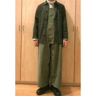 エンジニアードガーメンツ(Engineered Garments)の古着 オーバーオール 40s US NAVY 24日まで値下げ(サロペット/オーバーオール)