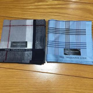 トラサルディ(Trussardi)のトラサルディブランドハンカチ2枚セット 新品タグ付き(ハンカチ/ポケットチーフ)