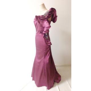 タダシショウジ(TADASHI SHOJI)のフリルワンショルダードレス(ロングドレス)