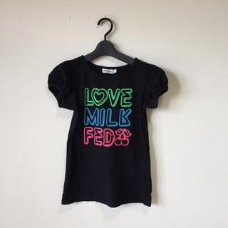 ミルクフェド(MILKFED.)のミルクフェド Tシャツ ロゴ ブラック 黒 半袖 パフスリーブ エックスガール(Tシャツ(半袖/袖なし))