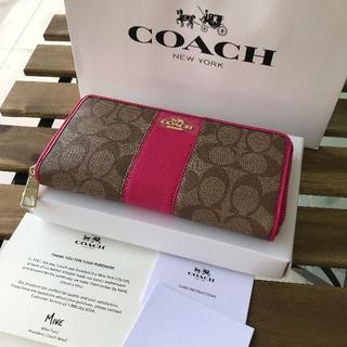 COACH - ★美品 コーチ (COACH)長財布 F52859 ローズ