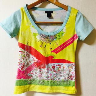 クストバルセロナ(Custo Barcelona)のクスト バルセロナ ラインストーンT−シャツ (Tシャツ(半袖/袖なし))