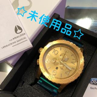 ニクソン(NIXON)の☆未使用品☆ ニクソン 51-30 クロノ オールゴールド(腕時計(アナログ))