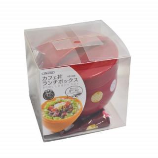 かわいい♡ランチボックス 巾着付 弁当箱 てまりうさぎ レッド(弁当用品)