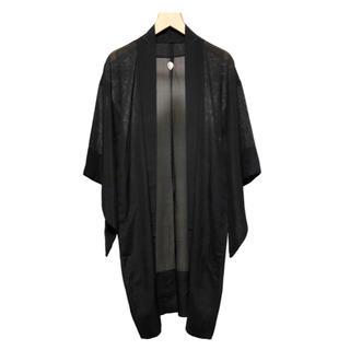 Vintage KIMONO 横絽 羽織り / 着物 紗 絹 シルク ジャケット(その他)