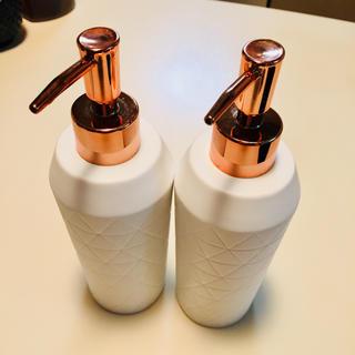 フランフラン(Francfranc)のフランフラン♡詰め替えボトル♡2個SET♡白 陶器(容器)