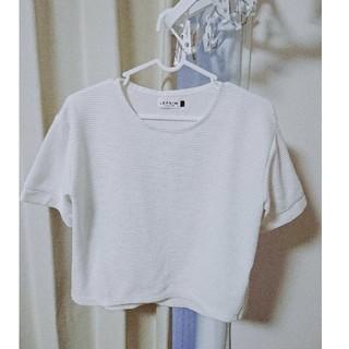 レプシィム(LEPSIM)のショート丈 白トップス(カットソー(半袖/袖なし))