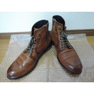 ハイストリート(HIGH STREET)のHIGT STREET ハイストリート レザーブーツ 茶色 キャメル(ブーツ)