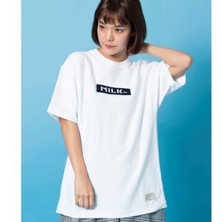 ミルクフェド(MILKFED.)の新品 ミルクフェド チャンピオンコラボ ビッグTバーロゴ(Tシャツ(半袖/袖なし))