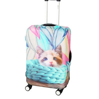 キャリーバッグカバー 猫柄 M(スーツケース/キャリーバッグ)