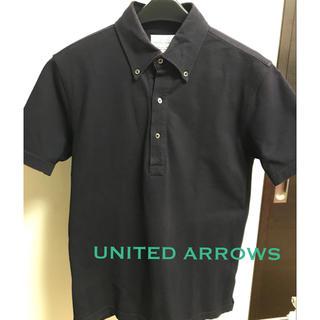ユナイテッドアローズ(UNITED ARROWS)のUNITED ARROWS ポロシャツ ネイビー コットン(ポロシャツ)