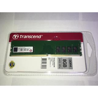 新品 Transcend メモリ PC4-19200 DDR4-2400 8GB(PCパーツ)