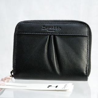レペット(repetto)の新品★repetto 黒革二つ折りラウンドファスナーコインケース レペット(財布)